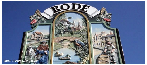 Image of the Rode Village sign on The Green